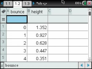 Bounce Height Data 1